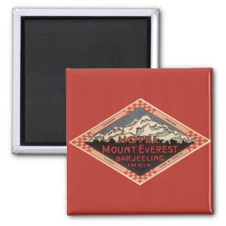 Vintage Travel, Mount Everest, Darjeeling India 2 Inch Square Magnet