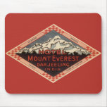 Vintage Travel, Mount Everest, Darjeeling India Mouse Pad