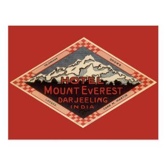Vintage Travel, Mount Everest, Darjeeling India Postcard