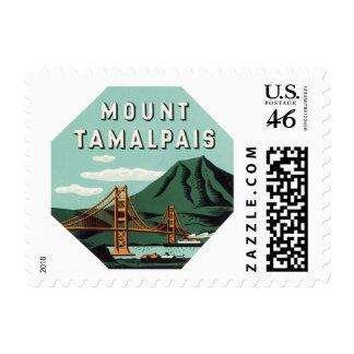 Vintage Travel Mount Tam Tamalpais Mountain Postage