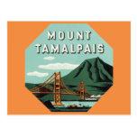 Vintage Travel, Mount Tam, Tamalpais Mountain Postcard