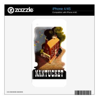 Vintage Travel Nantucket Massachusetts MA :: iPhone 4 Skins