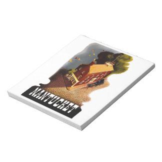 Vintage Travel Nantucket Massachusetts MA :: Notepad