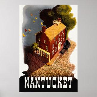 Vintage Travel Nantucket Massachusetts MA :: Poster