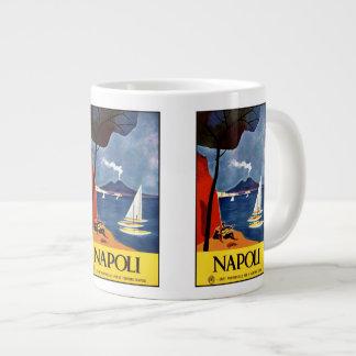 Vintage Travel Napoli Naples Italy mugs Jumbo Mug