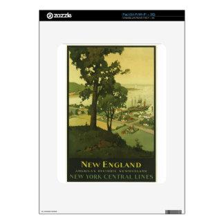 Vintage Travel New England USA iPad Decal