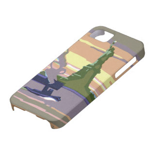 Vintage Travel, New York City, Statue of Liberty iPhone 5 Case