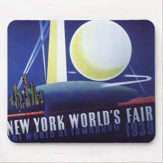 Vintage Travel, New York City World's Fair 1939 Mouse Pad