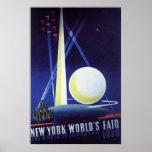 Vintage Travel, New York City World's Fair 1939 Poster