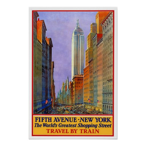 vintage travel new york poster zazzle. Black Bedroom Furniture Sets. Home Design Ideas