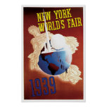 Vintage Travel,New York World's Fair Poster