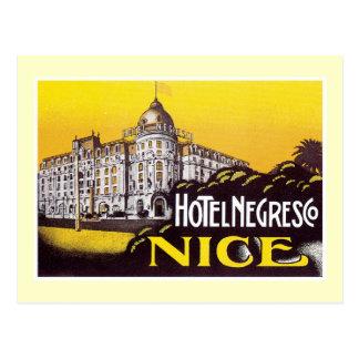 Vintage Travel Nice France Hotel Label Art Postcards