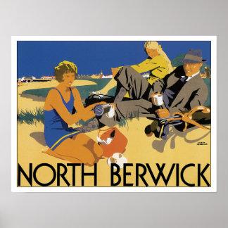 Vintage Travel North Berwick Scotland Print
