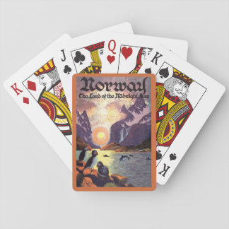 Vintage Travel, Norway Fjord Land of Midnight Sun Deck Of Cards