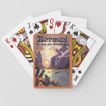 Vintage Travel, Norway Fjord Land of Midnight Sun Playing Cards