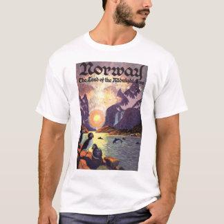 Vintage Travel, Norway Fjord Land of Midnight Sun T-Shirt