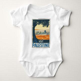 Vintage Travel Palestine Baby Bodysuit