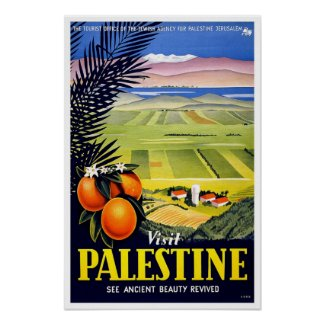 Vintage travel,Palestine Poster