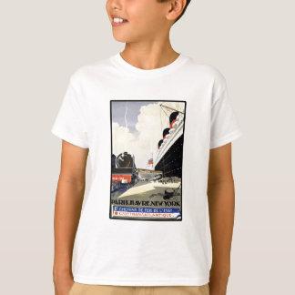 Vintage Travel Paris Havre New York T-Shirt
