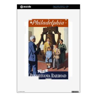 Vintage Travel Philadelphia Skin For The iPad 2