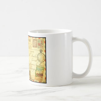 Vintage travel postcard Paris Eiffel Tower Coffee Mug