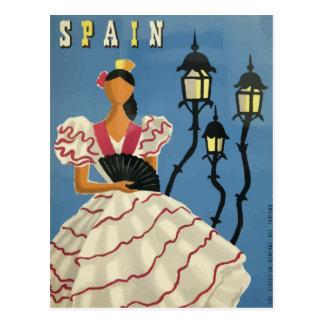 Vintage travel postcard poster Spain