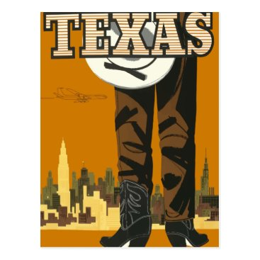 USA Themed Vintage travel postcard Texas USA