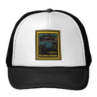 Vintage Travel Poster 40 Trucker Hat