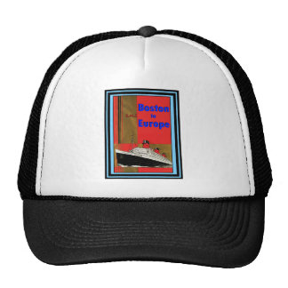 Vintage Travel Poster 64 Trucker Hat
