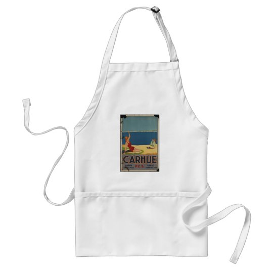 Vintage Travel Poster Ad Retro Prints Adult Apron
