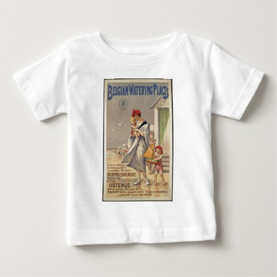 Vintage Travel Poster Ad Retro Prints Baby T-Shirt