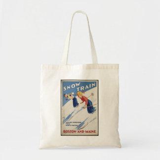 Vintage Travel Poster Ad Retro Prints Canvas Bags