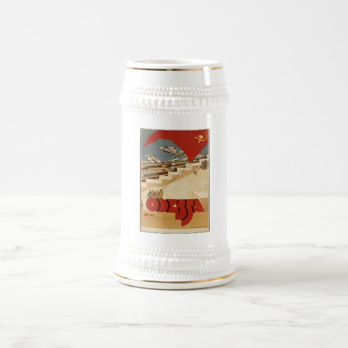 Vintage Travel Poster Ad Retro Prints Beer Stein
