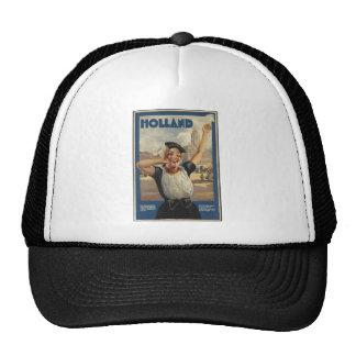 Vintage Travel Poster Ad Retro Prints Hats