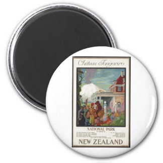 Vintage Travel Poster Ad Retro Prints 2 Inch Round Magnet