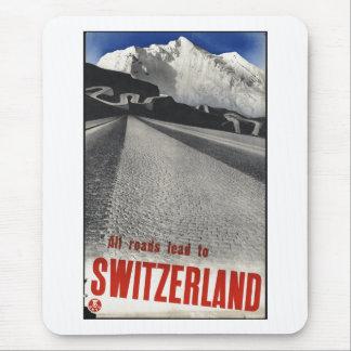 Vintage Travel Poster Ad Retro Prints Mouse Pad