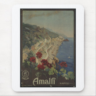 Vintage Travel Poster Ad Retro Prints Mouse Pad