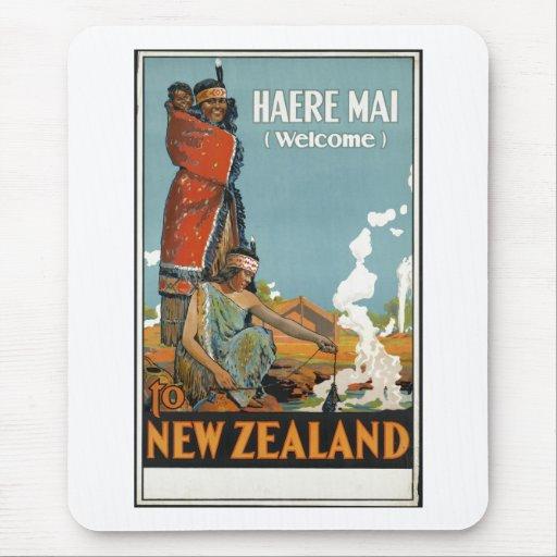 Vintage Travel Poster Ad Retro Prints Mouse Pads