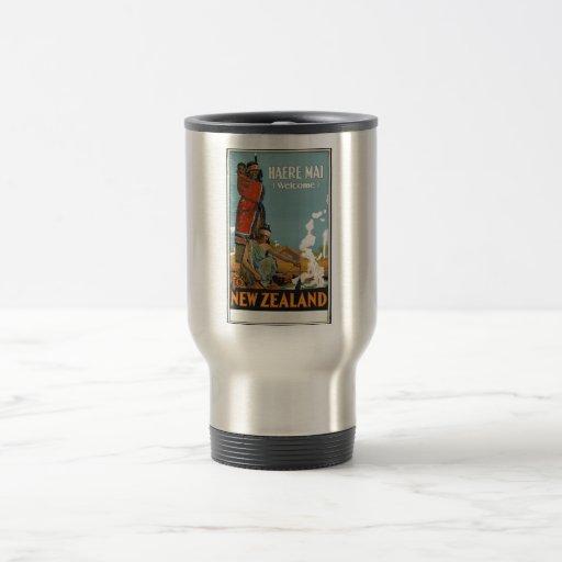 Vintage Travel Poster Ad Retro Prints 15 Oz Stainless Steel Travel Mug