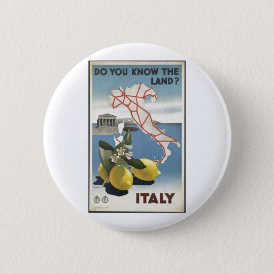 Vintage Travel Poster Ad Retro Prints Pinback Button