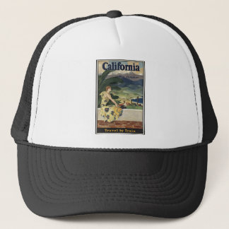 Vintage Travel Poster Ad Retro Prints Trucker Hat