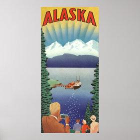 Vintage Travel Poster, Alaska