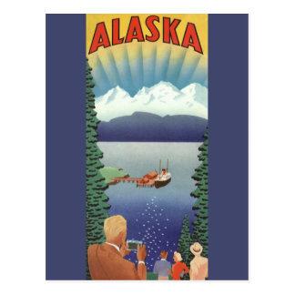 Vintage Travel Poster, Alaska Postcard