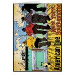 Vintage Travel Poster: American Line Card