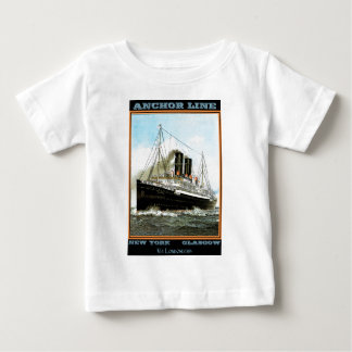 Vintage Travel Poster: Anchor Line Baby T-Shirt