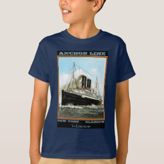 Vintage Travel Poster: Anchor Line T-Shirt