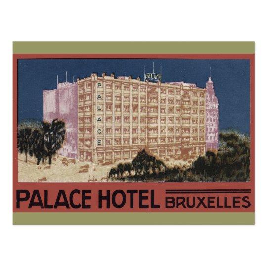 Vintage Travel Poster Art - Palace Hotel Bruxelles Postcard