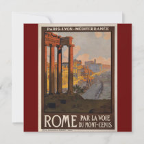 Vintage travel poster art, Rome