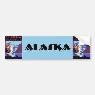 Vintage Travel Poster, Atlin and the Yukon, Alaska Bumper Stickers