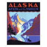 Vintage Travel Poster, Atlin and the Yukon, Alaska Announcement